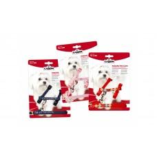 Camon Harness and leash - нагръдник с повод за кучета до 5 кг., 8 / 1400 мм. / черен, червен, розов /