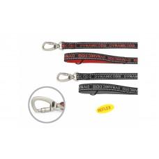 Camon Dynamic Neoprene dog leash - луксозен неопренов повод за средни, големи и гигантски породи / черен, червен / 20 мм. / 1800 мм.