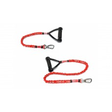 Camon Anti-shock dog leash - повод за средни и големи породи със система анти шок 65 см. / черен, червен /