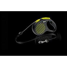 Flexi Dots Design Cord Leashes S - автоматичен повод за кучета с тегло до 12 кг., 5 метра