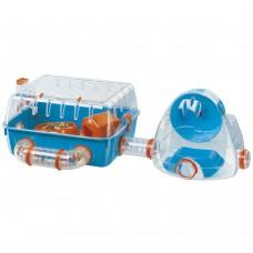 Ferplast Cage Combi 2 - оборудвана клетка за хамстери 79.5 x 29.5 x h 26.3 cm