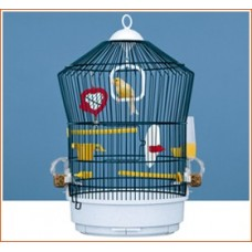Ferplast Cage Katy Black - кръгла клетка за малки птици 36.5/52 см