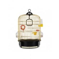 Ferplast Cage Regina Brass - кръгла клетка за малки птици ø 32.5 x 49 cm.