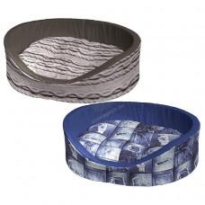 Ferplast Dandy C 110 - меко легло с дюшече от памучен плат / сиво, синьо / 110 / 70 / 23 cm
