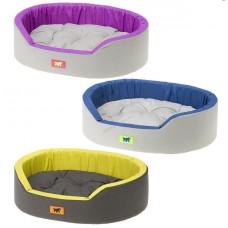 Ferplast Dandy C 45 - меко легло с дюшече от памучен плат / синьо, лилаво, жълто / 45 / 35 / 13 см.