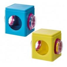 Ferplast - Cube fri4836 - къщичка за гризачи / оранжева, синя / 12,5 / 9,5 / 10,5 cm