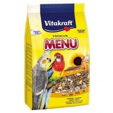 Vitakraft menu vital - пълноценна храна за средни папагали 1кг.
