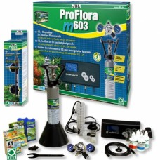 JBL ProFlora m603 - професионална система за въглероден двуокис с бутилка 500 грама, за многократна употреба и pH контролер, за аквариуми до 600 литра