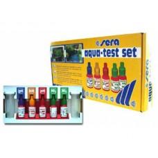 Sera aqua test set - тестове за точно определяне на: pH ( 4,5 до 9.0); GH; KH; NO2 в сладко- и соленоводни аквариуми.