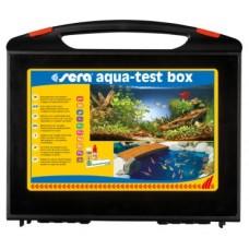 Sera aqua test box - тестове за точното определяне на gH, kH, pH, NH4/NH3, NO2, Fe и PO4.,само за сладководни аквариуми и градински езерца .